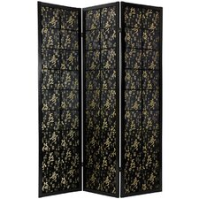 "<strong>Oriental Furniture</strong> 72"" x 42"" Feng Shui Shoji 3 Panel Room Divider"
