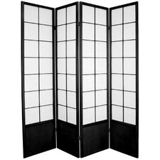 "<strong>Oriental Furniture</strong> 70.25"" x 56"" Asian Zen 4 Panel Room Divider"