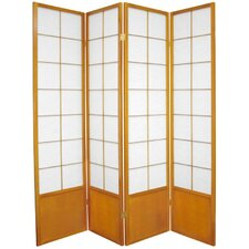 "70.25"" x 56"" Asian Zen 4 Panel Room Divider"