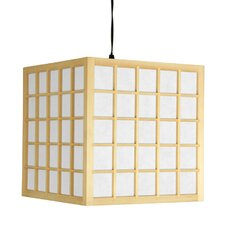 <strong>Oriental Furniture</strong> Japanese Window Pane 1 Light Hanging Lantern