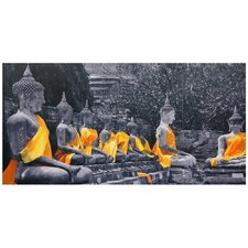 "Golden Sash Buddhas Canvas Wall Art - 19.75"" x 39.25"""