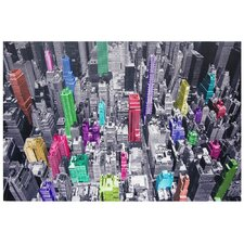 "<strong>Oriental Furniture</strong> Colorful New York Canvas Wall Art - 39.75"" x 59"""