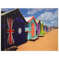 Beach Cabana Photographic Print on Canvas