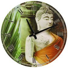 "<strong>Oriental Furniture</strong> 15.75"" Buddha Wall Clock"