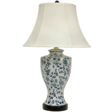 "Flower Vine 27"" H Table Lamp with Bell Shade"