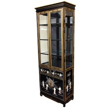 <strong>Oriental Furniture</strong> Mother of Pearl - Ladies Tall Curio Cabinet