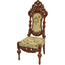 <strong>Oriental Furniture</strong> Queen Victoria Parlor Fabric Side Chair