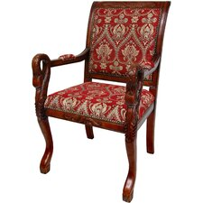 <strong>Oriental Furniture</strong> Queen Anne Fabric Arm Chair