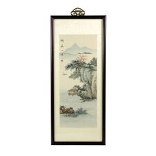 <strong>Oriental Furniture</strong> River Cottage Oriental Watercolor Painting