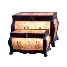 Meditation Oriental Storage Trunk (Set of 2)