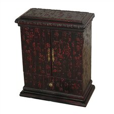 <strong>Oriental Furniture</strong> Chinese Calligraphy Multimedia Cabinet