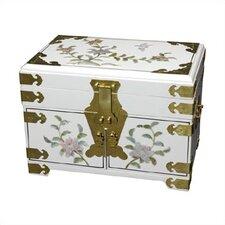 Chinese Daisy Mirror Jewelry Box