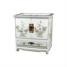 <strong>Oriental Furniture</strong> White Empress lacquer Jewelry Box