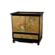 <strong>Oriental Furniture</strong> Gold Leaf Empress lacquer Jewelry Box