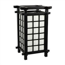 "Ido Japanese 17"" H Table Lamp with Square Shade"