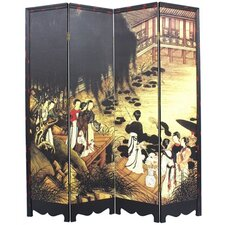 "71"" x 63"" Ladies Gathering 4 Panel Room Divider"