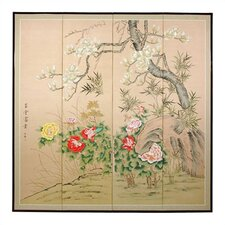 "72"" x 72"" Harmony in Nature 4 Panel Room Divider"