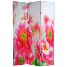 "<strong>Oriental Furniture</strong> 70.88"" x 47.25"" Summer Flowers 3 Panel Room Divider"