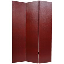 Faux Leather Crocodile Room Divider in Burgundy