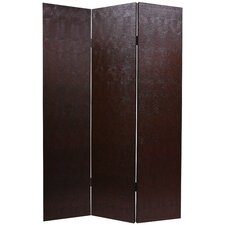 Faux Leather Snakeskin Room Divider in Brown