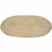 <strong>Oriental Furniture</strong> Maize Natural Oval Rug