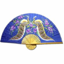 <strong>Oriental Furniture</strong> Proud Peacocks Fan Wall Décor
