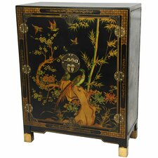 <strong>Oriental Furniture</strong> Nestling Birds Cabinet