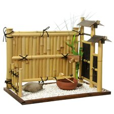 Zen Bamboo Mini Rock Garden