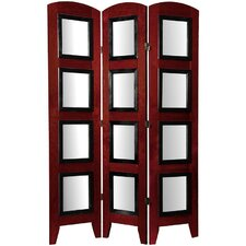 Decorative Photo Display Room Divider in Rosewood