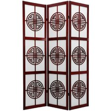 Long Life Decorative Shoji Room Divider in Rosewood