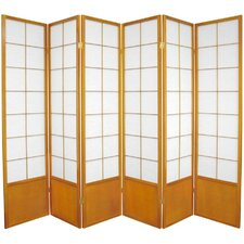 "70.25"" x 84"" Asian Zen 6 Panel Room Divider"