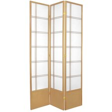 Double Cross Shoji Room Divider in Natural
