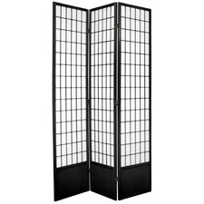 "83.5"" x 42"" Window Pane Shoji 3 Panel Room Divider"