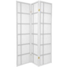 Double Cross Room Divider in White