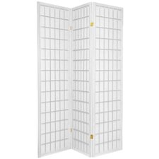 Window Pane Room Divider in White