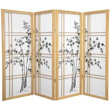 "48"" Double Cross Shoji Bamboo Tree Room Divider"