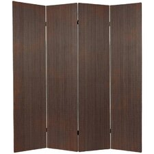 """70"""" x 63"""" Bamboo 4 Panel Room Divider"""