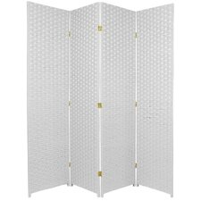 "<strong>Oriental Furniture</strong> 70.75"" x 70"" 4 Panel Room Divider"