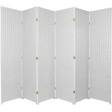 "70.75"" x 105"" 6 Panel Room Divider"