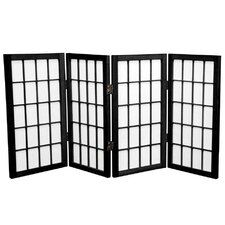 "<strong>Oriental Furniture</strong> 26"" x 39"" Window Pane Shoji 4 Panel Room Divider"