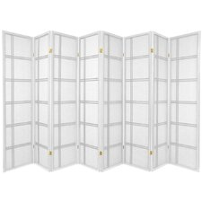 Double Cross Shoji Screen in White