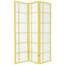 Double Cross Shoji Screen in Yellow