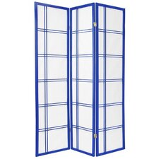 Double Cross Shoji Screen in Royal Blue