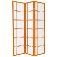 Double Cross Shoji Screen in Orange