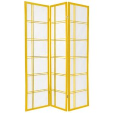 Double Cross Shoji Screen in Mustard