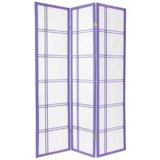 Double Cross Shoji Screen in Lavender