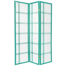 Double Cross Shoji Screen in Green