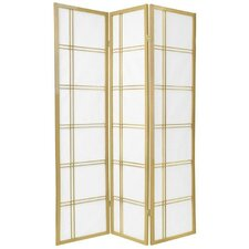 Double Cross Shoji Screen in Gold