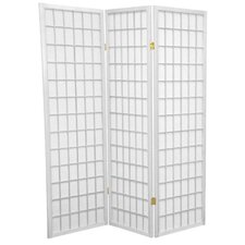 5 Feet Tall Window Pane Shoji Screen in White