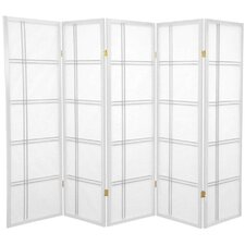 "60"" x 70"" Double Cross Shoji 5 Panel Room Divider"